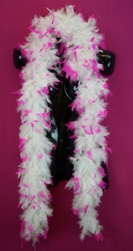 White and Pink Feather Boa