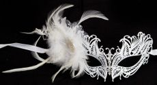 Masquerade Wedding Feather Mask