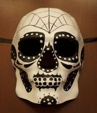 White Day Of The Dead Skull Mask