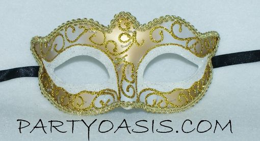 White Gold Venetian Mask