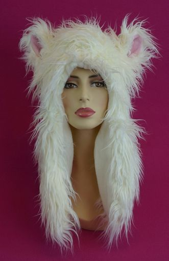 White Lamb Faux Fur Hat
