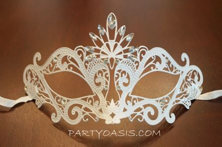 White Princess Masquerade Mask