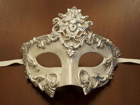 White Silver Goddess Mask