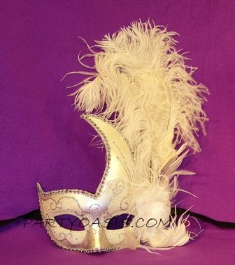 White Swan Feather Mask