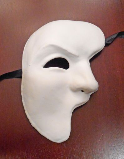 White Unpainted Phantom Mask