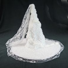 White Rose Witch Hat Halloween Witch Hat