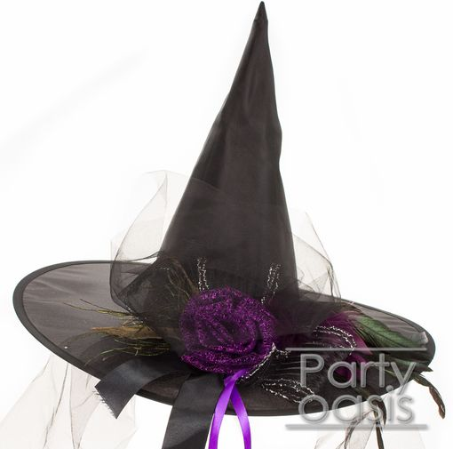 Purple Rose Witch Hat
