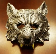Wolf Mask With Glow In The Dark Teeth