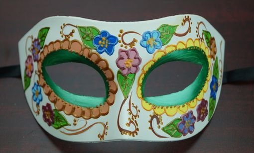 Women's Day Of The Dead Mask Green