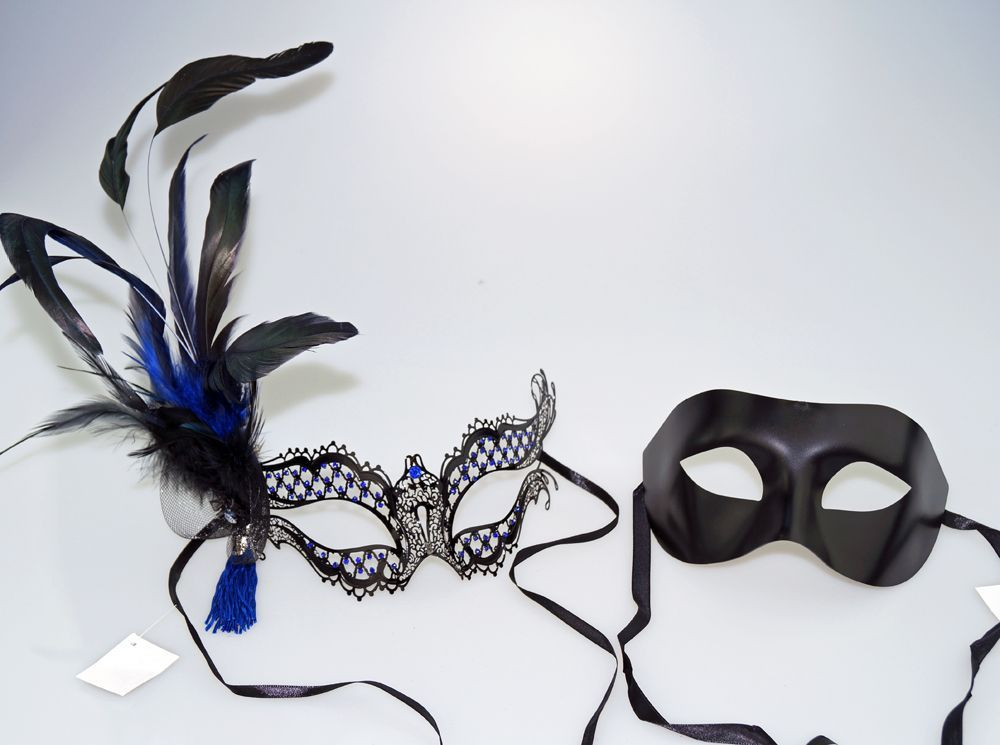 Zakarra Masquerade Couples Masks His & Hers Masks