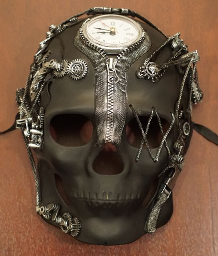 ZR1 Skull Steampunk Mask Sil