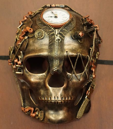 ZR1 Steampunk Skull Mask Cop