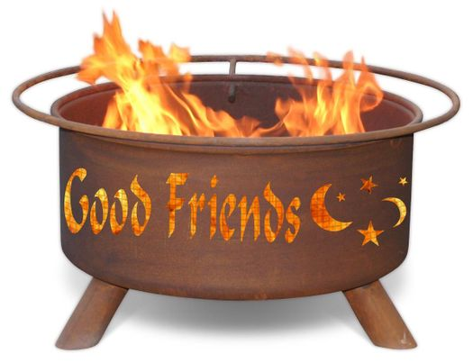Personalized Fire Pit Patina F199