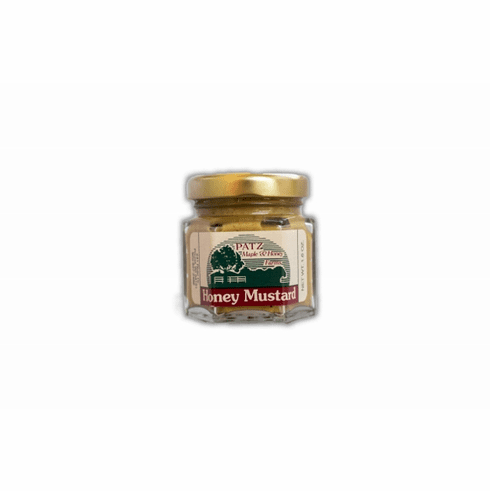 1.6 oz., Honey Mustard, Glass Hex Jar