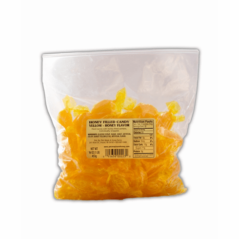 1 lb. Bag, Honey Candy, Plain - Yellow
