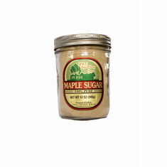 12 oz, Pure Granulated Maple Sugar, Glass Pint Jar