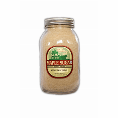 24 oz, Pure Granulated Maple Sugar, Glass Quart Jar