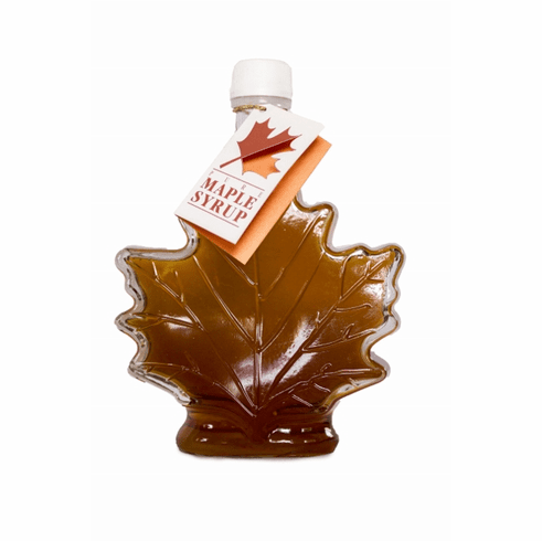 8 oz. Maple Syrup-Maple Leaf Bottle