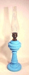 19th C. French blue oil lamp
