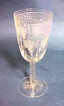 A late 19th C. engraved wine glass