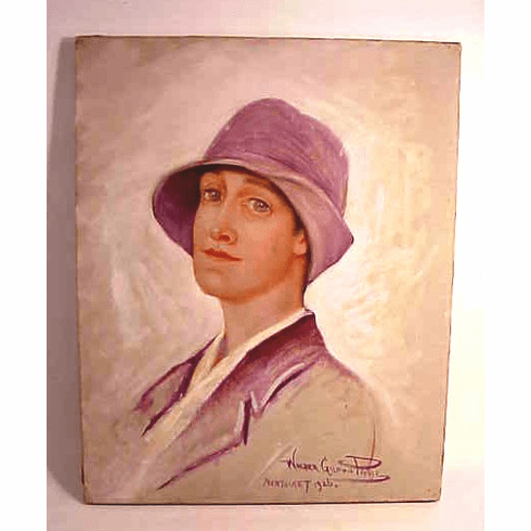 A portrait of Mary Prentice, Nantucket by Walter Gilman Page