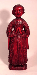 A very rare early 18th C. red wax figure