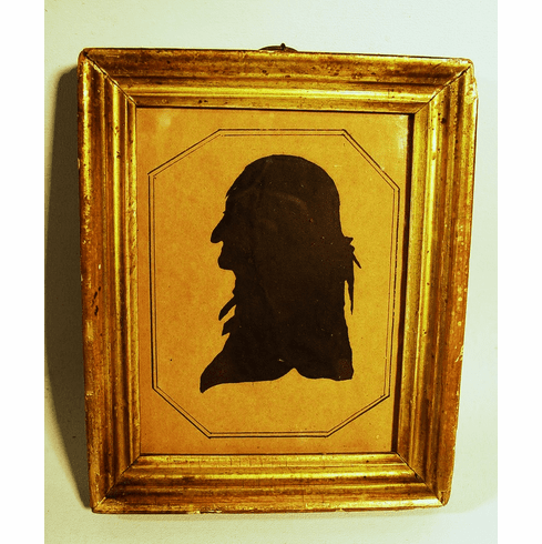 Antique American hand drawn early silhouette