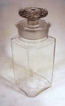 Antique American pressed glass covered jar