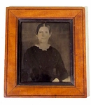 Antique American tin-type photograph.