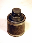 Antique American tin whale oil can