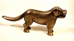 Antique brass big-dog nutcracker