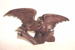 Antique carved wooden American Eagle
