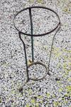 Antique cast iron pitcher and bowl stand
