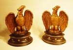 Antique cast metal EAGLE bookends