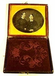 Antique DAGUERREOTYPE of two sisters