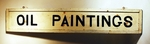 Antique double-sided sign OIL PAINTINGS
