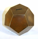 Antique folk made GEOMETRIC shaped coin bank