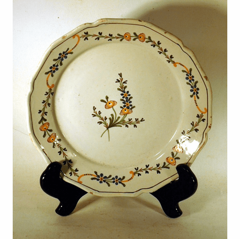 Antique French faience plate