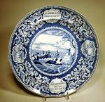 Antique Historical Staffordshire Landing of the Pilgrims