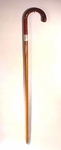Antique malacca wood cane with silver band