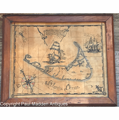Antique Map of Nantucket by Alexander Dumas