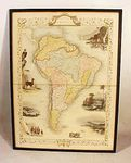 Antique map of South America by John Tallis & Co.