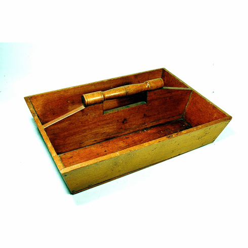 Antique maple cutlery tray