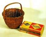 Antique miniature splint basket circa 1900.
