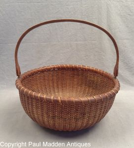 Antique Nantucket Lightship Basket by Ferdinand Sylvaro
