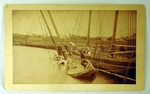 Antique New Bedford photograph of sunken boat.