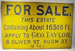 Antique New England painted pine REAL ESTATE sign