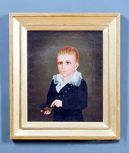 Antique oil on canvas portrait of Oliver C. Coffin, Nantucket