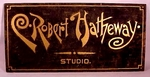 """Antique painted artist's sign """"Hathaway"""" from Windsor Ct."""