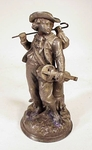 Antique pewter figure of STREET MUSICIAN